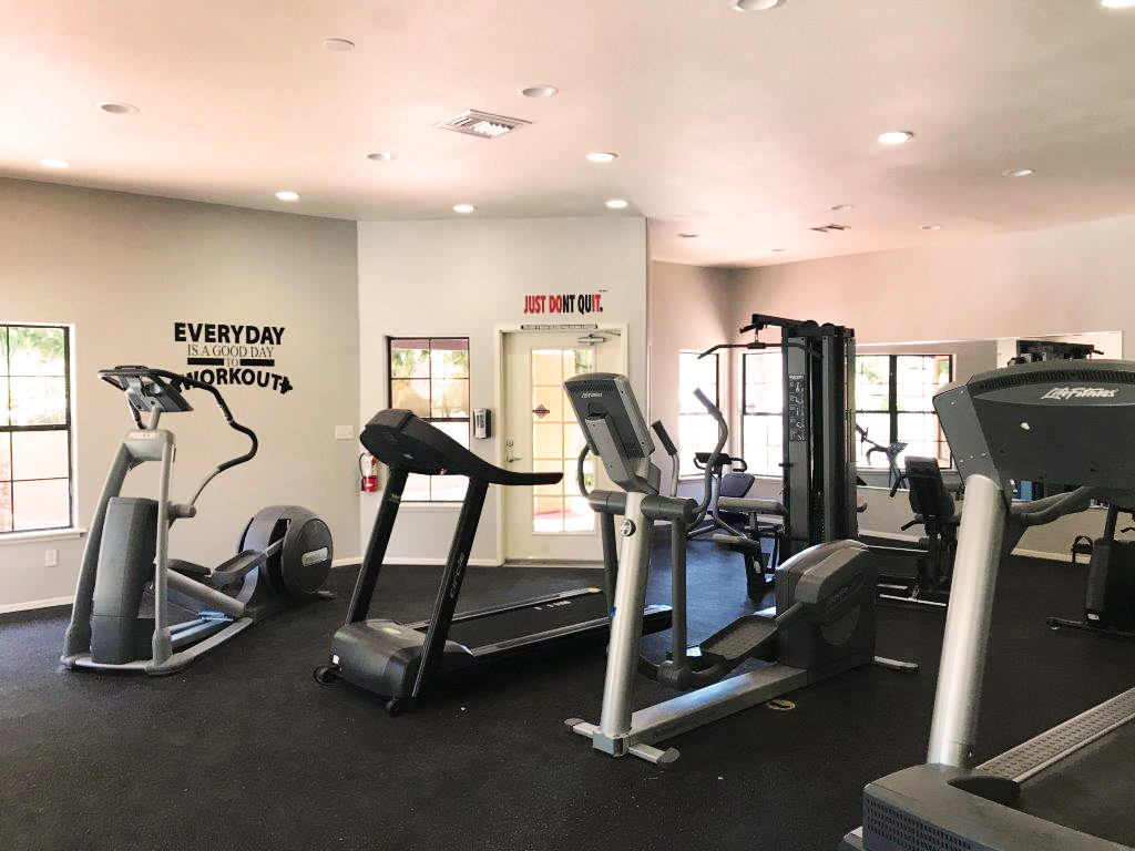 Full gym and fitness center