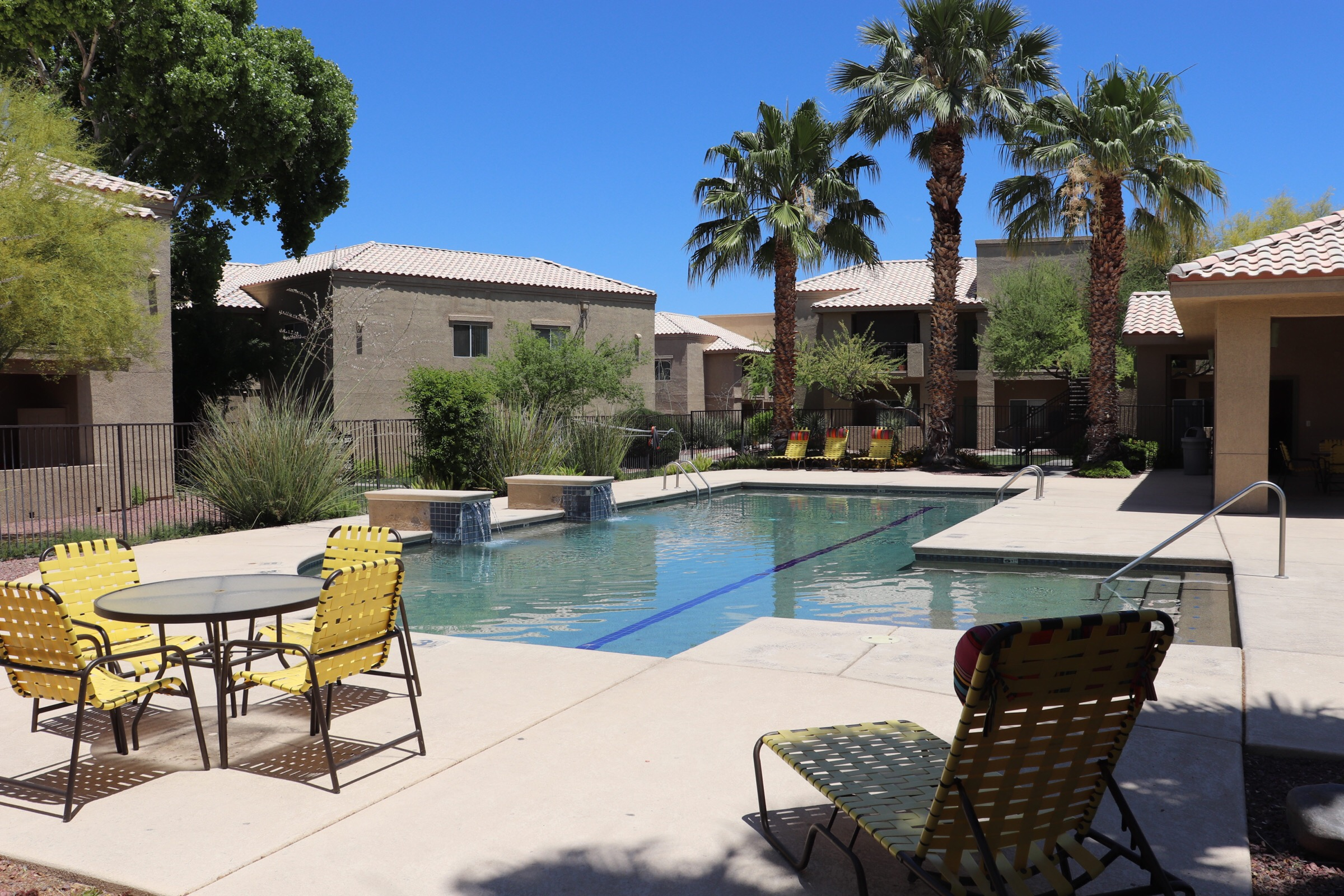 Two sparkling pools and spas throughout the community
