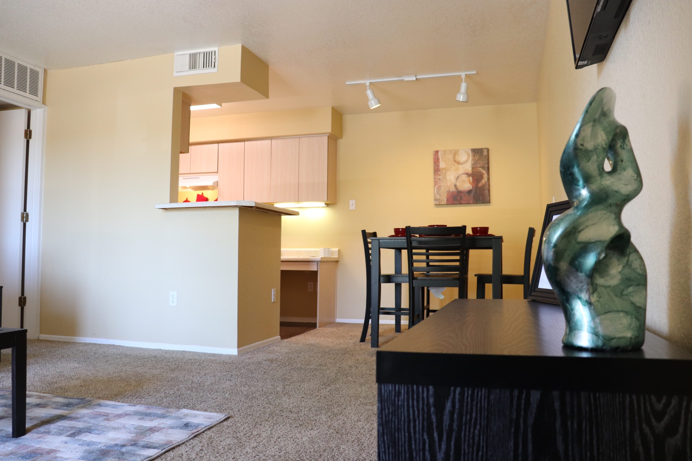 Upscale one and two bedroom apartment homes with plank flooring