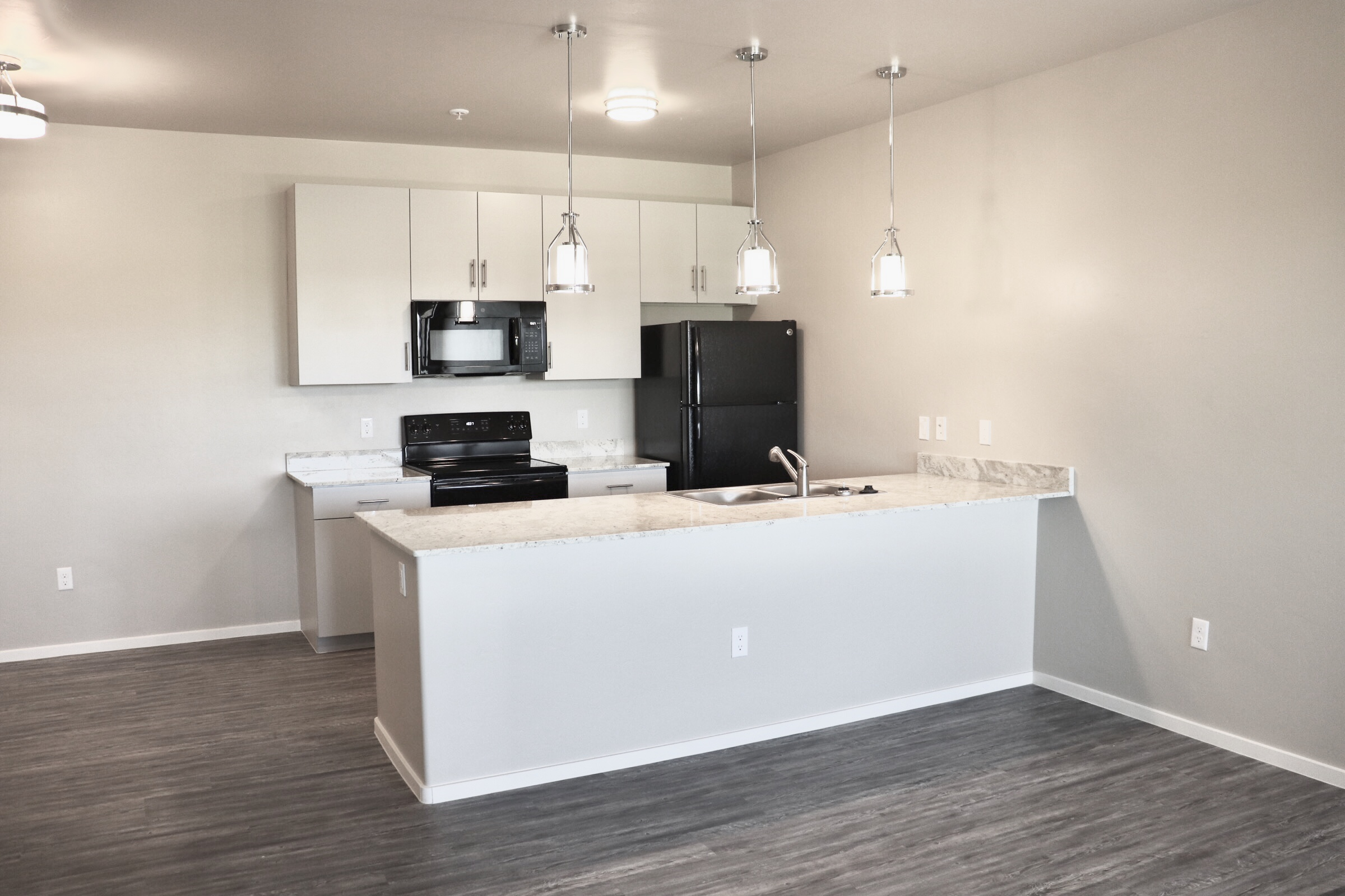 Brand new luxury one and two bedroom apartment homes with high end finishes and amenities