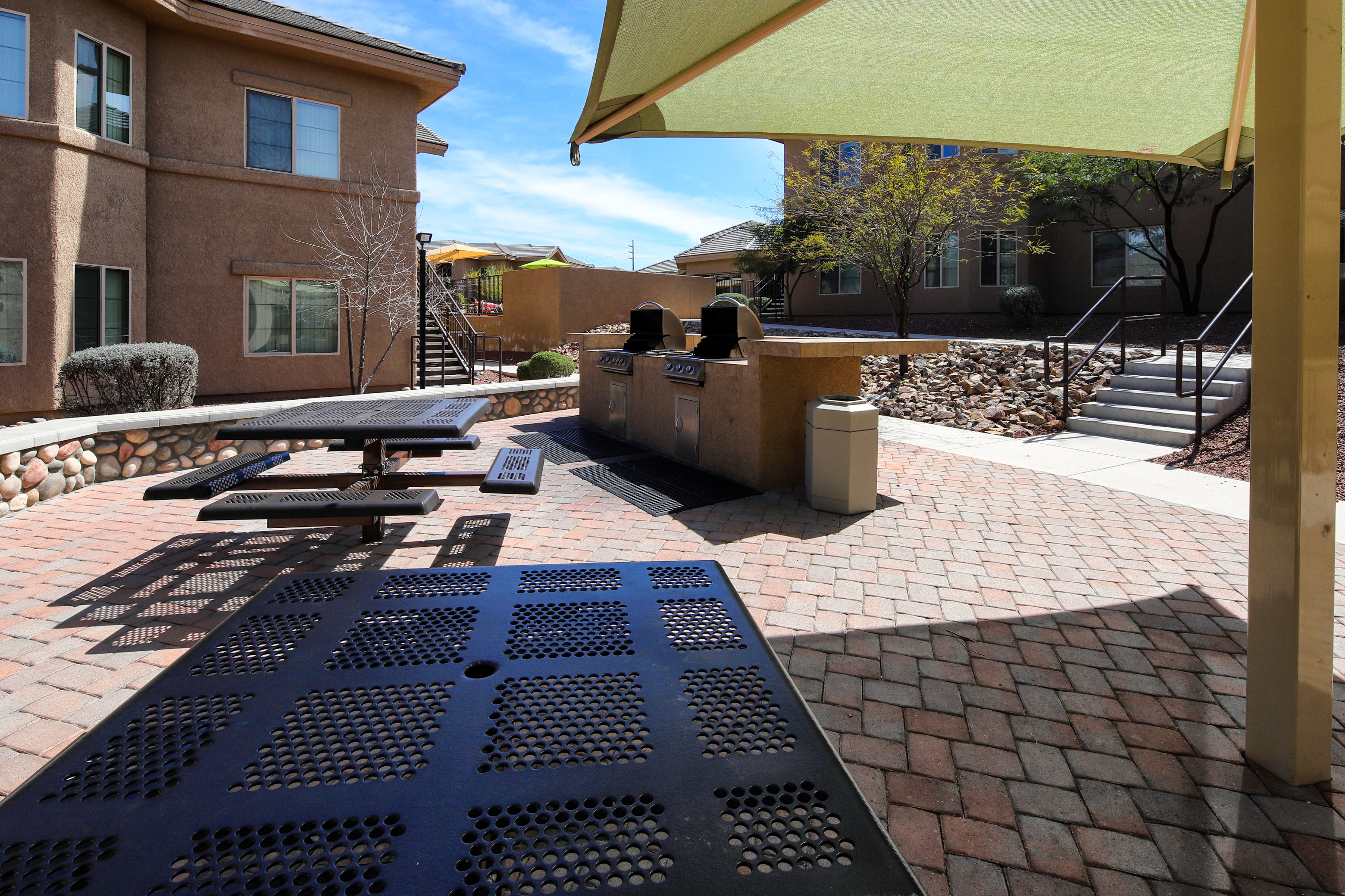 outdoor gathering spaces with bbq