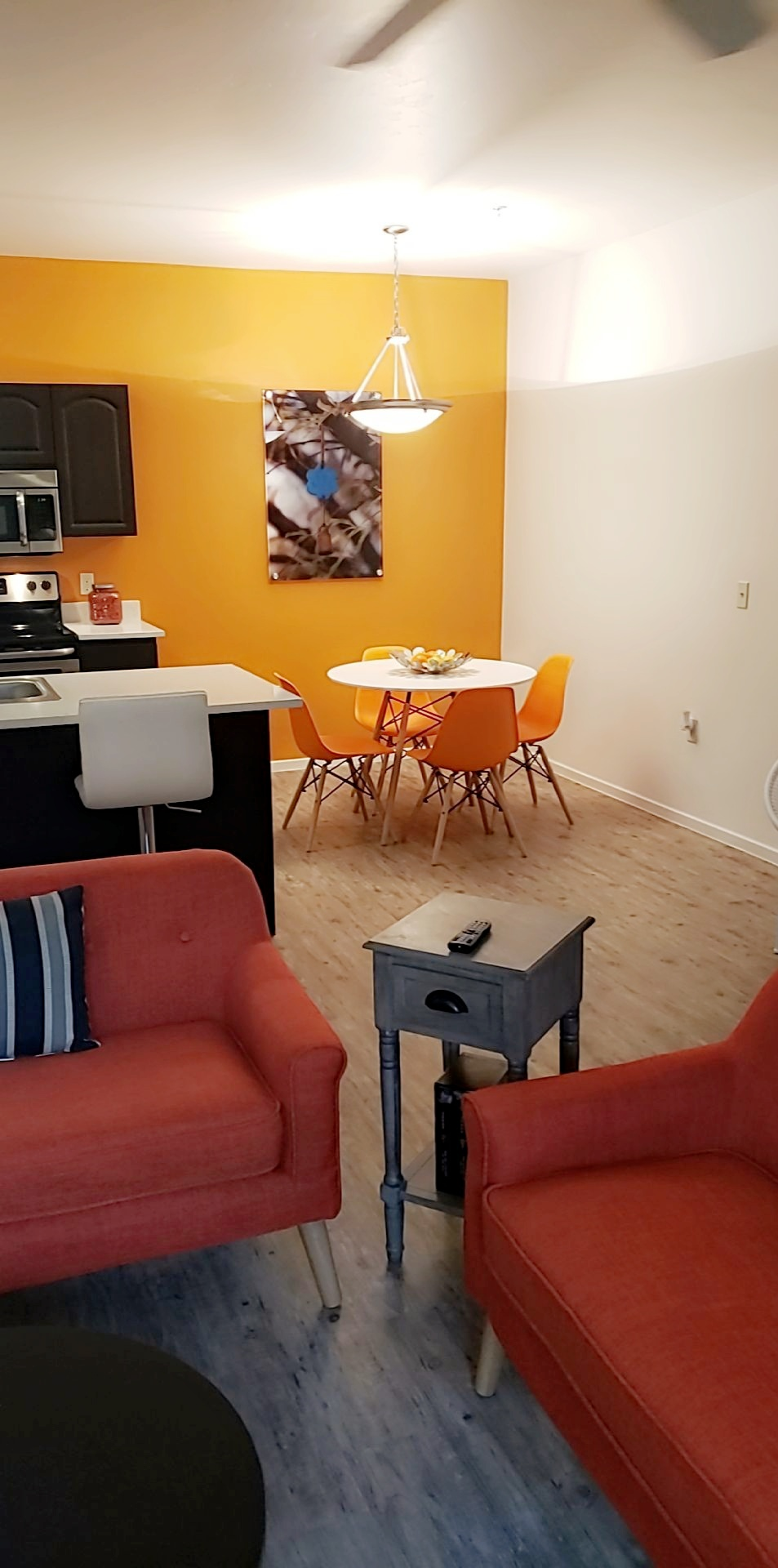 Renovated one and two bedroom apartment homes with quartz countertops, plank flooring and nest smart thermostat